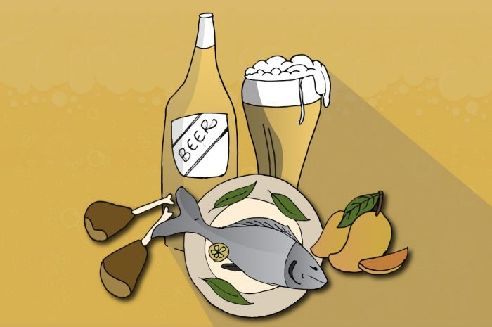 Photo for: Beer and Food Pairings, What Goes with Each Type of Beer?